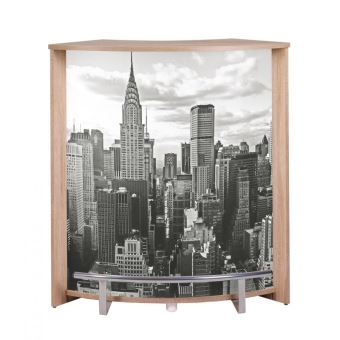 Meuble Comptoir De Bar Chene Naturel New York Achat Prix Fnac