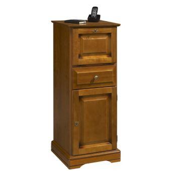 Meuble d 39 entr e meuble t l phone merisier louis philippe - Repeindre meuble louis philippe ...