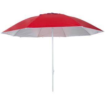 Pure2Improve Parasol Anti UV 240 cm rouge P2I700060   Mobilier de