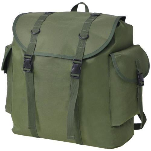 vidaXL Sac à dos en style militaire 40 L vert