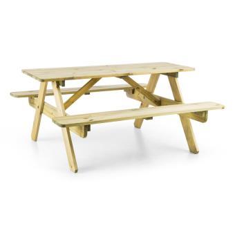 40 sur blumfeldt table de pique nique avec banc meuble. Black Bedroom Furniture Sets. Home Design Ideas