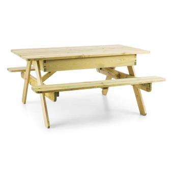 40 sur blumfeldt table de jeux ou pique nique pour enfants avec banc int gr bois mobilier. Black Bedroom Furniture Sets. Home Design Ideas