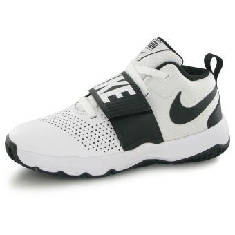 NIKE Team Hustle K Blanc Noir 29.5 Enfant Chaussures et