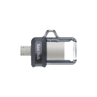 SanDisk Ultra clé USB Dual Drive m3.0 OTG 32 Go - USB 3.0 - Micro USB pour Android Devices et ordinateur jusqu'à 150Mo/s