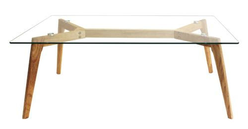 Table rectangulaire en verre - 45x110x60 cm - PEGANE -