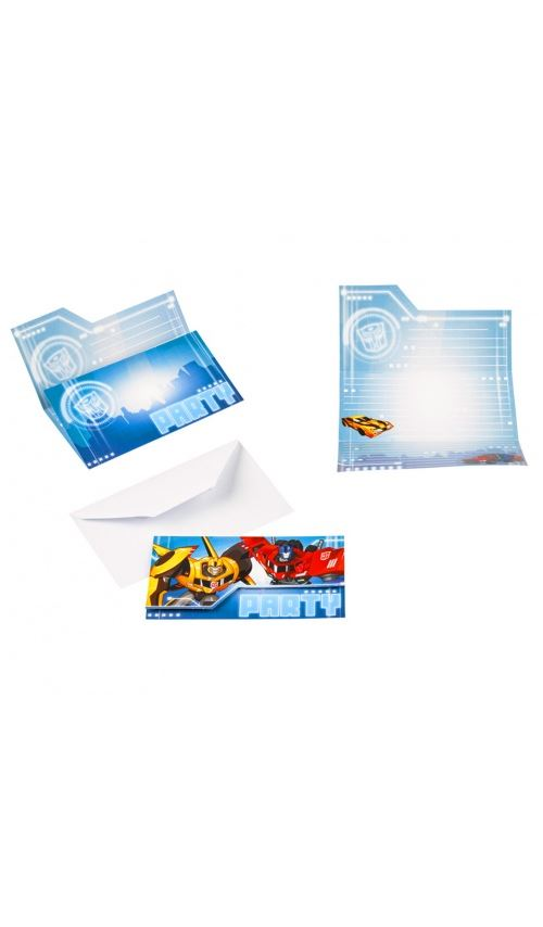 Cartons D´invitation - Transformers Robots In Disguise x 8