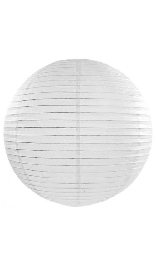 Lanterne Boule - Blanc x 35 cm