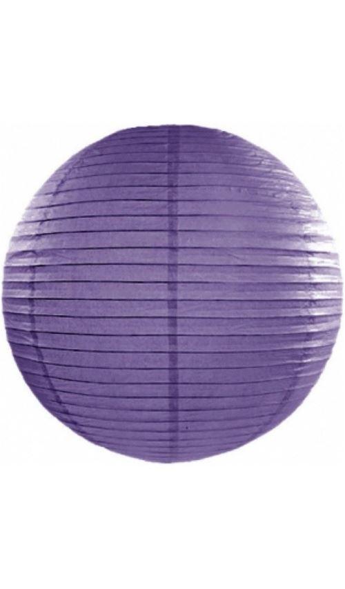 Lanterne Boule - Violet x 35 cm