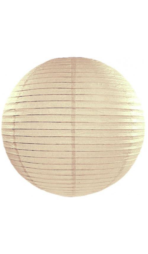 Lanterne Boule - Beige x 35 cm