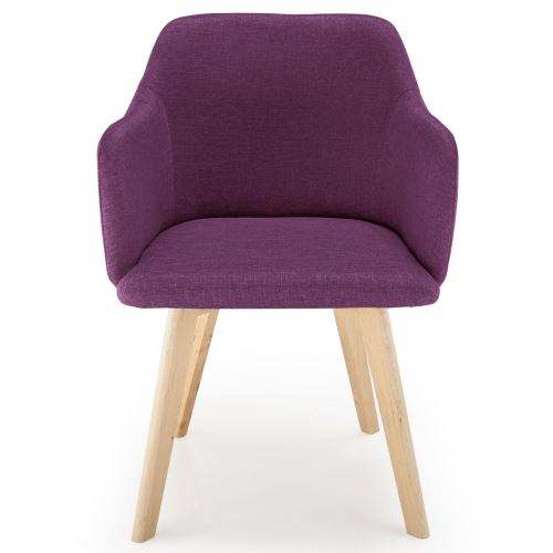 chaise style scandinave candy tissu violet