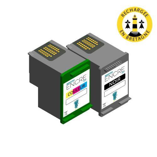 Pack HP 337343 Noir et couleurs compatible