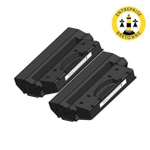 Pack HP 15X x2 Noir compatible