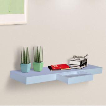 etag re murale avec tiroir kit de fixation blanc achat. Black Bedroom Furniture Sets. Home Design Ideas