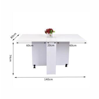 Table de cuisine salle manger pliable amovible achat prix fnac - Table de cuisine pliable ...