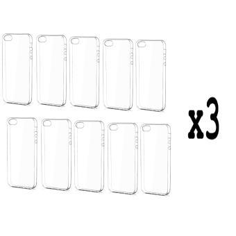 Lot de 30 coques iPhone 5 / 5S / SE NOVAGO® Coque ultra transparente en gel souple et invisible de qualité pour iPhone 5, iPhone 5S, iPhone SE
