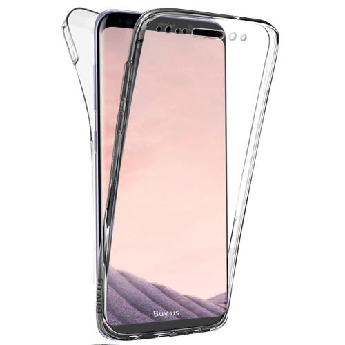 Coque TOTALE Gel Samsung S8 , 360 Degres Protection INTEGRAL Anti Choc , Etui Ultra Mince Transparent INVISIBLE pour Galaxy S8 , Coque S8