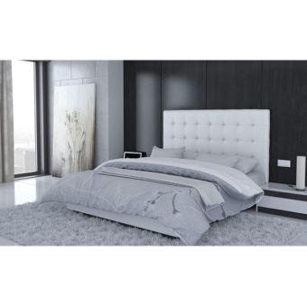 tte de lit capitonn 140x190 blanc golden dream achat prix fnac - Lit Capitonne