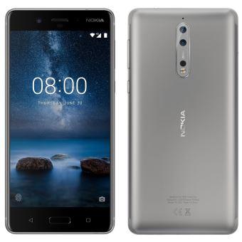 Nokia 8 Dual Sim 4 GB / 64 GB ontgrendeld - zilver