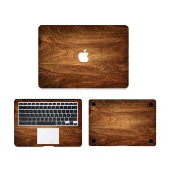 bpfy macbook pro retina 13 sticker de protection decoration couleur effet bois fonce tres. Black Bedroom Furniture Sets. Home Design Ideas