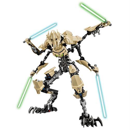 Figurine Delicate Star Wars General Grievou Assemblage de blocs de construction jouet d'action pour enfants 32 cm