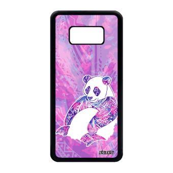 Coque Samsung S8 Silicone Panda Azteque Animaux Fille Dessin