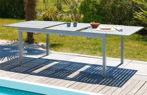 Table de jardin à rallonge automatique - Mobilier de Jardin ...