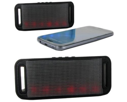 Inexstart mini haut parleur stéréo portable bluetooth lumineux et kit mains libres intégré coloris noir