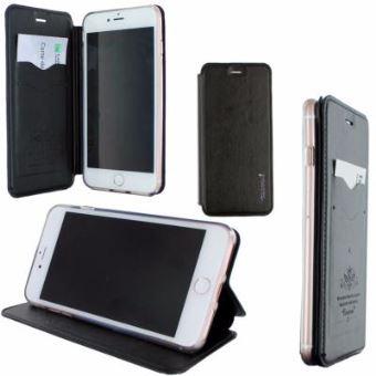INexStart Etui Luxe Rabattable Noir Et Support Carte De Visite Pour Apple IPhone 8 Plus