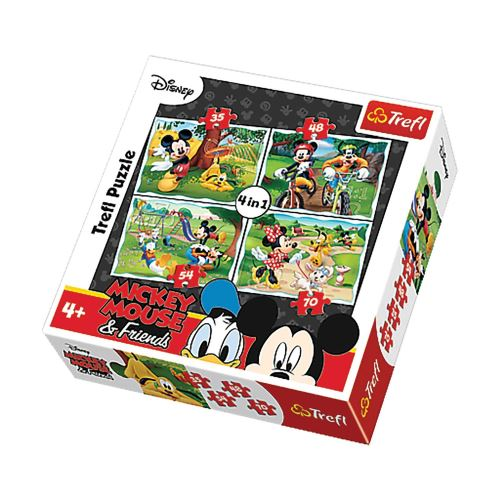 4 Puzzles Mickey - + 4 ans - 35/48/54/70 pièces