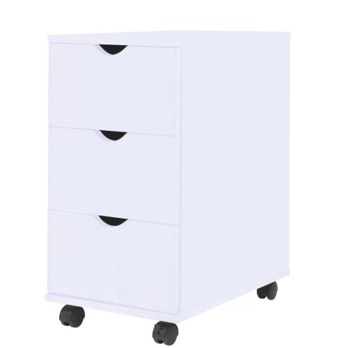 Meelady Armoires de Bureau Meuble de Salon avec 3 tiroirs moderne 33 x 45 x 60 cm