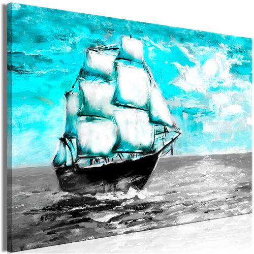 Tableau - spring cruise (1 part) wide blue - artgeist - 120x80