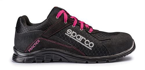 Chaussure de sécurité S24 SPARCO Pratice - Noir fushia - Taille 40 - 07517