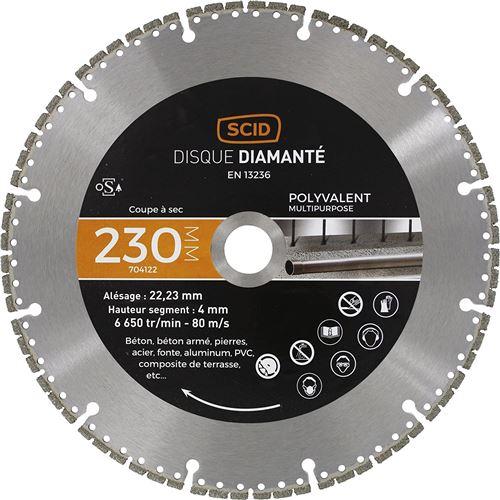 Disque diamanté polyvalent expert SCID - Diamètre 230 mm