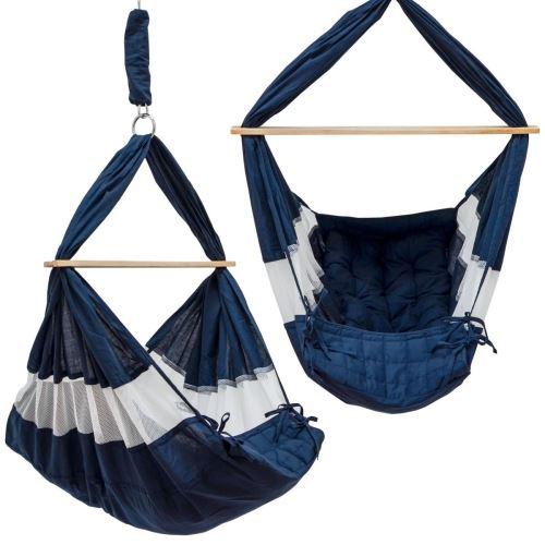 DuneDesign Hamac pour Bébé 70x36x94cm berceau siège suspendu pour babies Bleu