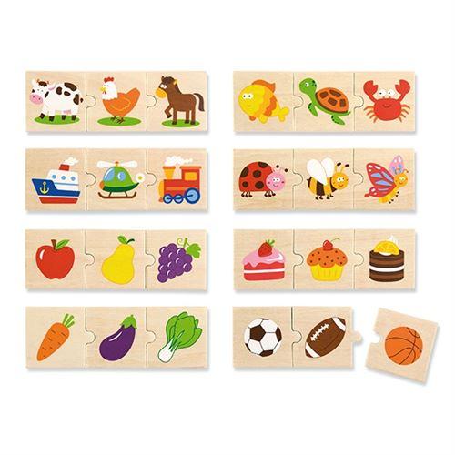 Viga Toys jeu de puzzle logique 24-pièces