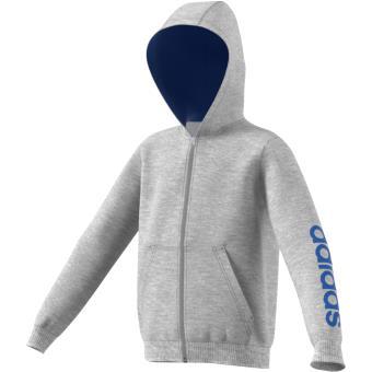 92917ab1dea12 Adidas Hoodie Essentials Linear gris Taille 13 14 ans Enfant Garçon - Vestes  de sport - Achat   prix