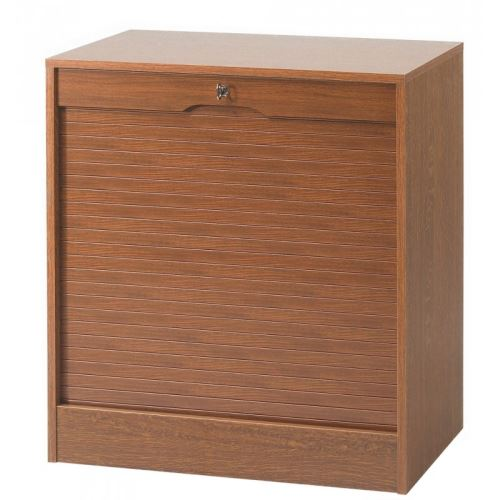Classeur à Rideau Large Hauteur 76 cm - Coloris - Chêne rustique