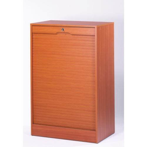 Classeur à Rideau Large Hauteur 108 cm - Coloris - Merisier