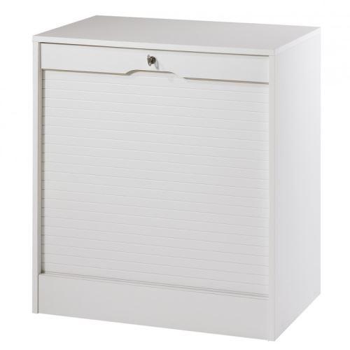 Classeur à Rideau Large Hauteur 76 cm - Coloris - Blanc