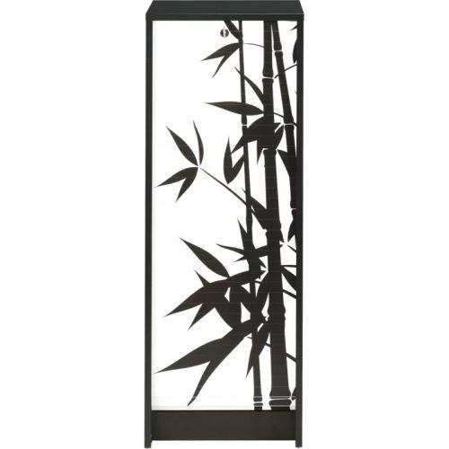 Classeur à Rideau Noir Rideau Imprimé - Coloris - Bambous