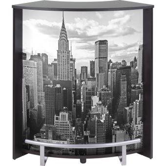 meuble comptoir bar noir imprim new york achat prix fnac