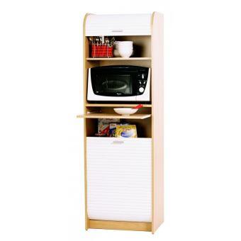 Grand meuble micro onde meuble de cuisine h tre rideau blanc achat prix fnac - Meuble micro onde cuisine ...