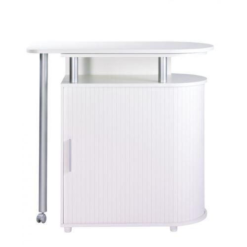 Table De Cuisine Et Meuble De Rangement Integre Blanc Achat