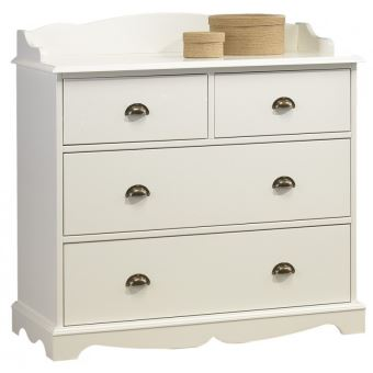69 Sur Commode 4 Tiroirs Blanche Credence Achat Prix Fnac