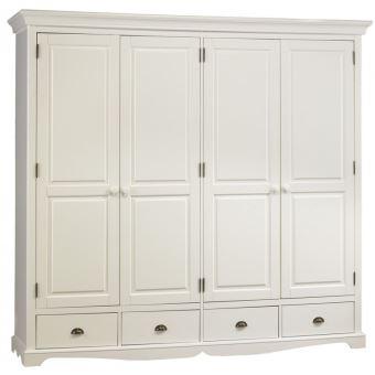 grande armoire penderie blanche de style anglais achat prix fnac. Black Bedroom Furniture Sets. Home Design Ideas