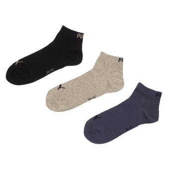 Socquettes chaussettes Puma 3 paires Bleu Pointure 43-46 Adulte Homme