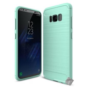 coque samsung s8 silicone bleu