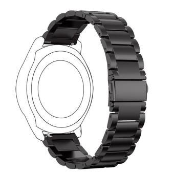 photos officielles 0c544 d7d91 Bracelet Classic acier inoxidable pour Samsung Gear S3 Frontier - Noir