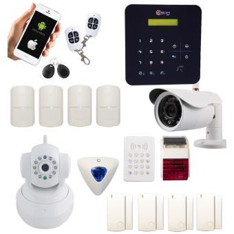 alarme a9 sans fil gsm avec sir ne int rieure et. Black Bedroom Furniture Sets. Home Design Ideas