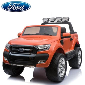 nouveau ford ranger cran lcd 2x12v voiture quad gros 4x4 lectrique enfant orange 2 places pack. Black Bedroom Furniture Sets. Home Design Ideas